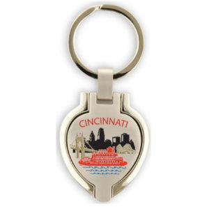Cncinnati Locket Keychain