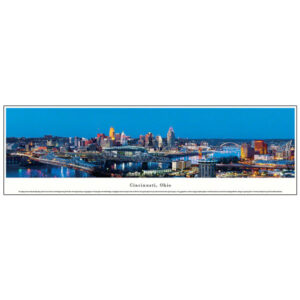 Cincinnati Night Skyline Photograph
