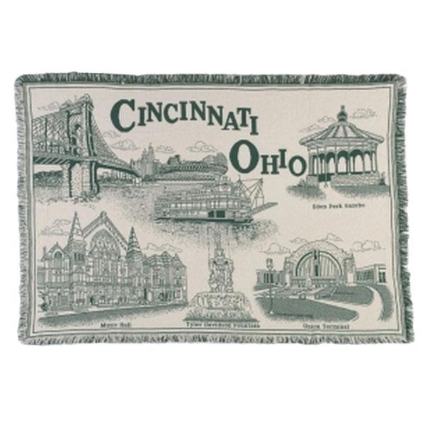Cincinnati Throw Green
