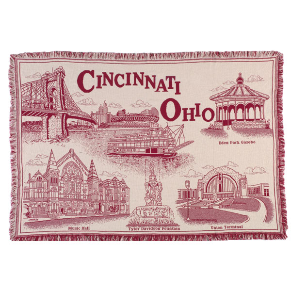 Cincinnati Throw Red