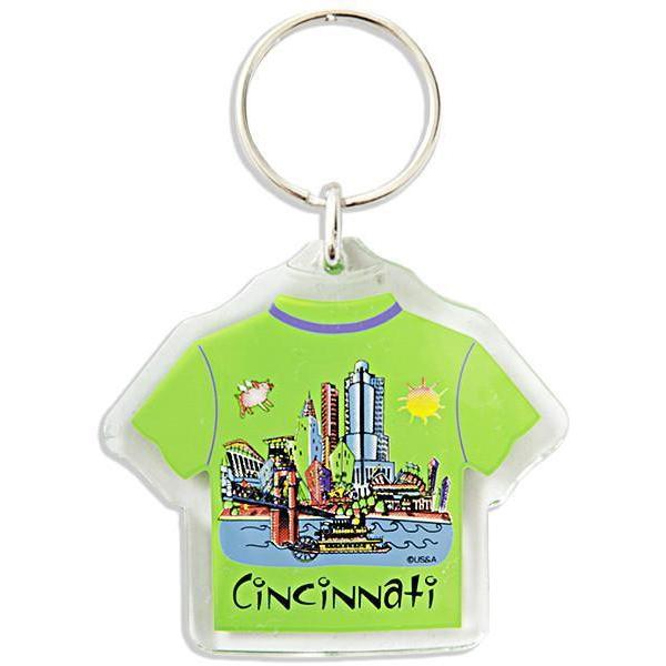 Cincinnati T-Shirt Keychain