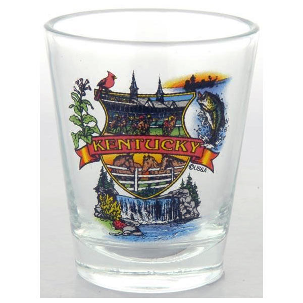 Kentucky Montage Shot Glass