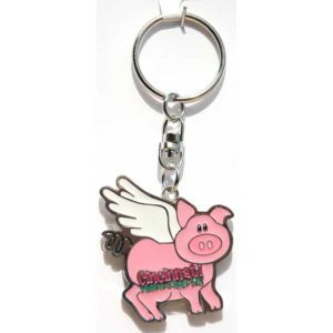 Cincinnati Flying Pig Keychain