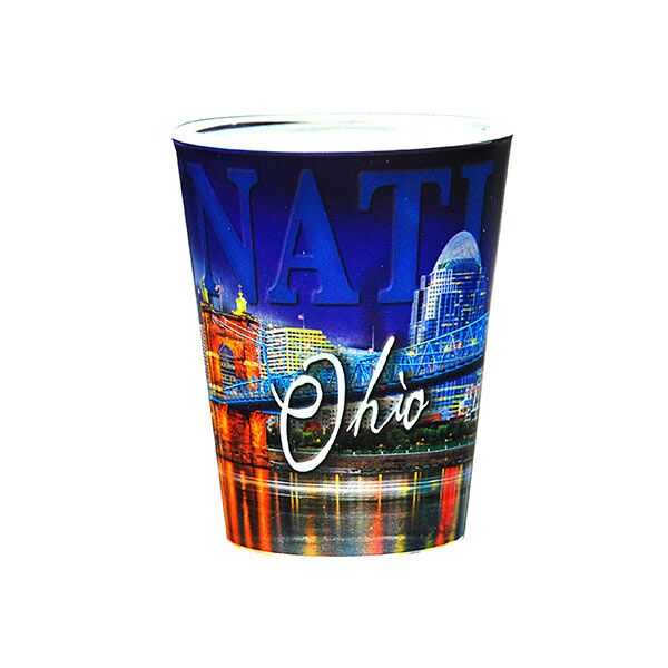 Cincinnati Metallic Shot Glass