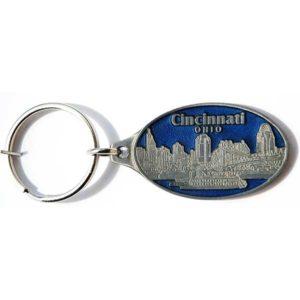 Cincinnati Pewter Keychain