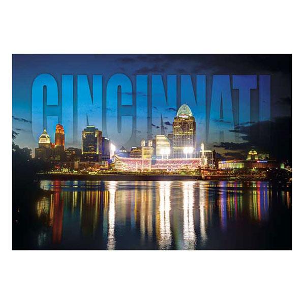 Cincinnati Night Time Skyline Magnet