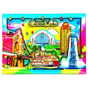 Cincinnati Watercolor Magnet