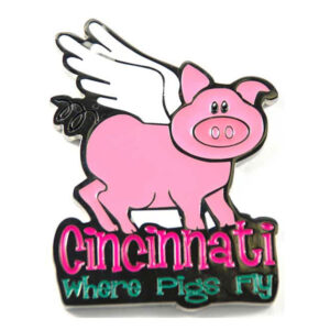 Flying Pig Epoxy Magnet