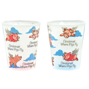 Cincinnati Where Pigs Fly Shot Glass