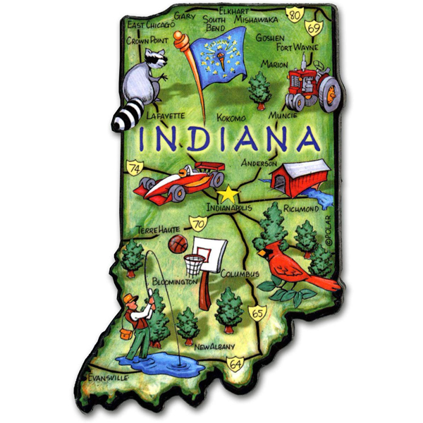 Indiana Wood Art Magnet