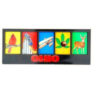 Ohio 5 Square Magnet