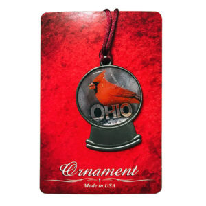 Ohio Cardinal Snowglobe Ornament