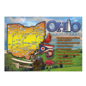 Ohio Map Facts Magnet