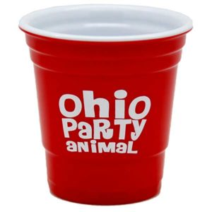 Ohio Party Animal Shot Glass