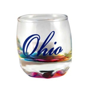 Ohio Tie-Dye Shot Glass