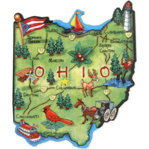 Ohio Wood Art Magnet