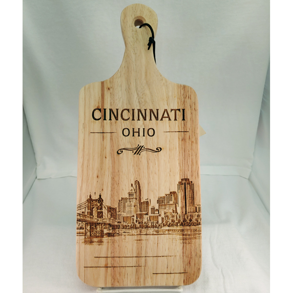 Cincinnati Skyline Wood Cutting Board