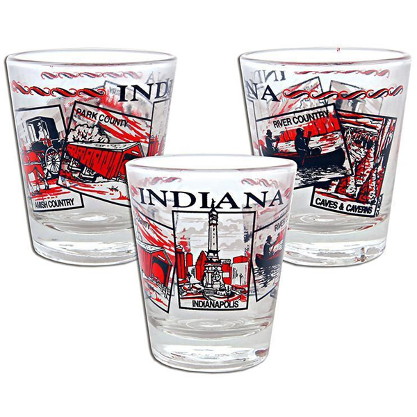 Indiana Images Shot Glass