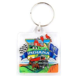 Indiana Landmark Keychain