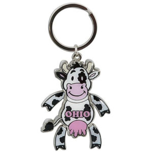 Ohio Cow Keychain