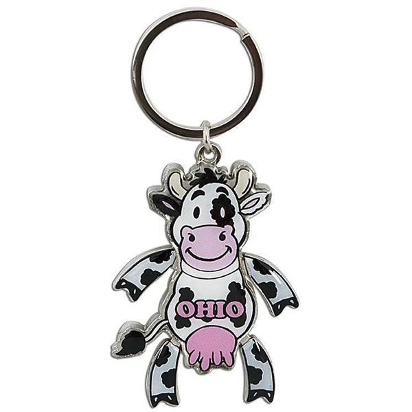 Ohio Cow Keychain