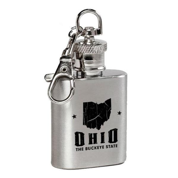 Ohio Flask Keychain