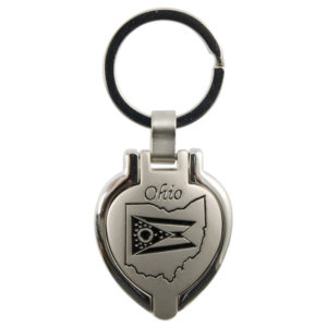 Ohio Locket Keychain