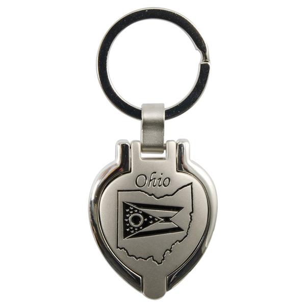 Ohio Locket Keychain