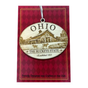 Ohio Wood Farm Ornament