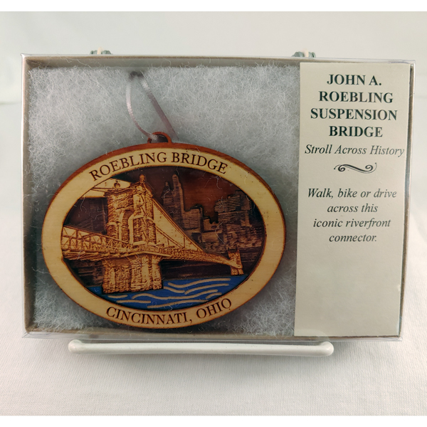 Roebling Suspension Bridge Wood Ornament