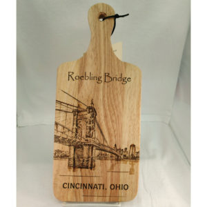 Roebling Suspension Bridge Wood Cutting Board