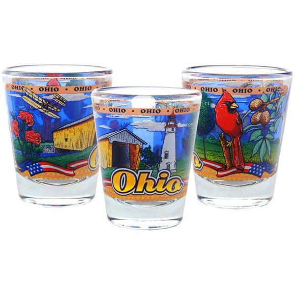 Ohio Panorma Shot Glass