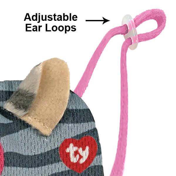 Beanie Boo Mask Adjustable Ear Loops