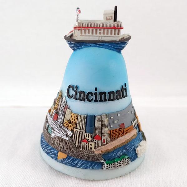 Cincinnati 2D Riverboat Souvenir Bell